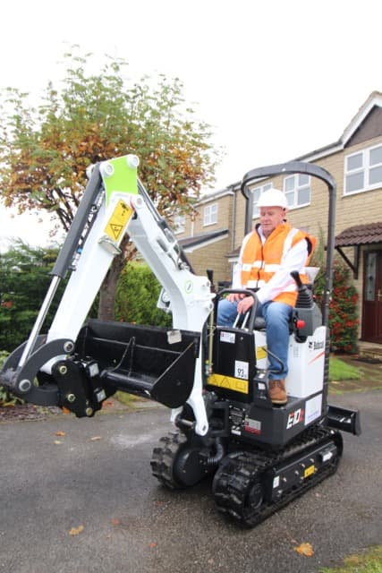 Micro digger hire Chesterfield